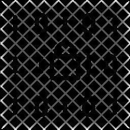 Binary Code Lock Line Icon