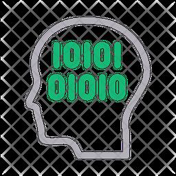 Binary Head Icon