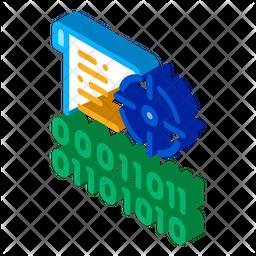 Binary Target Isometric Icon