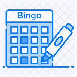 Bingo Colored Outline Icon