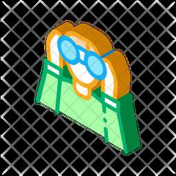 Binocular Isometric Icon