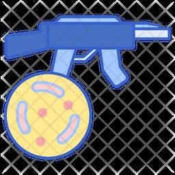 Bio Weapon Colored Outline Icon