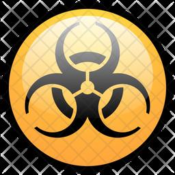 Biohazard Colored Outline Icon