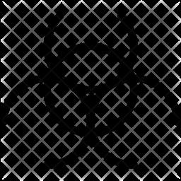 Biohazard Line Icon