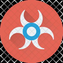 Biohazard Flat Icon