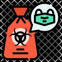 Biohazard Bag Colored Outline Icon
