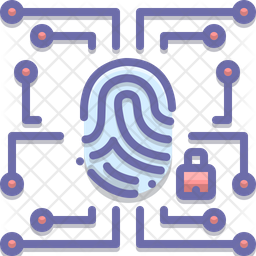Biometric Data Security Icon