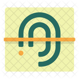 Biometric Identification Flat Icon