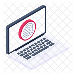 Biometric Laptop Icon