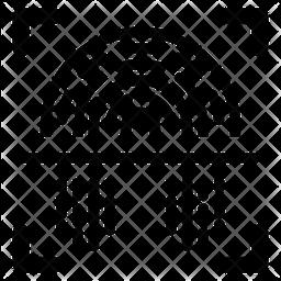 Biometric Technology Glyph Icon
