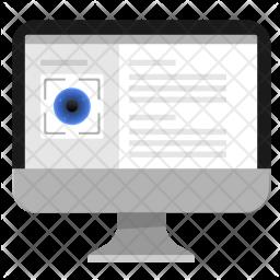 Biometry, Eye, Pc, Monitor, Data, Info Icon png