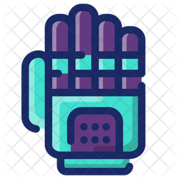 Bionic Arm Colored Outline Icon