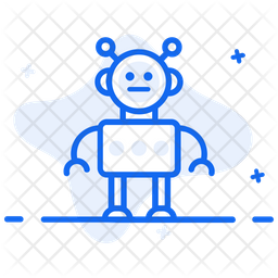 Bionic Man Colored Outline Icon