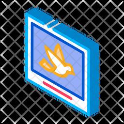 Bird Picture Isometric Icon