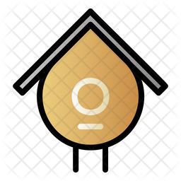 Birdhouse Colored Outline Icon