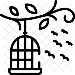 Birds Outside Of Cage Icon