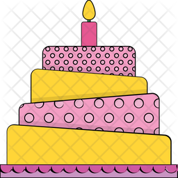 Peachy Birthday Cake Icon Of Colored Outline Style Available In Svg Birthday Cards Printable Trancafe Filternl