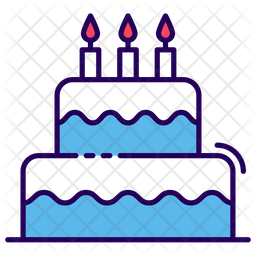 Birthday Cake Icon Of Colored Outline Style Available In Svg Png Eps Ai Icon Fonts
