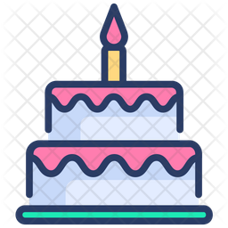Cool Birthday Cake Icon Of Colored Outline Style Available In Svg Birthday Cards Printable Trancafe Filternl