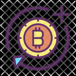 Bitcoin Add And Sync Icon