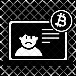Bitcoin Bad News Icon