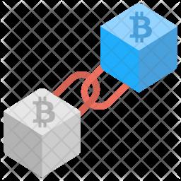 Bitcoin Block chain Icon