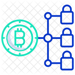 Bitcoin Blockchain Icon Of Colored Outline Style Available In Svg Png Eps Ai Icon Fonts