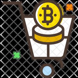 Bitcoin Cart Icon