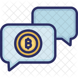 Bitcoin Chat Icon