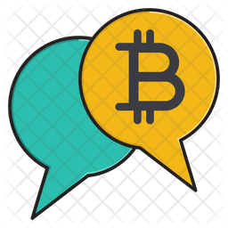 Bitcoin Chatting Icon