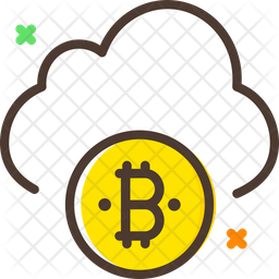 Bitcoin Cloud Icon of Colored Outline style - Available in SVG ...