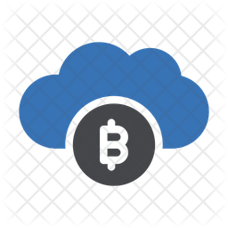 Bitcoin Cloud Icon of Flat style - Available in SVG, PNG, EPS, AI ...