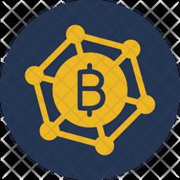 Bitcoin Club Flat Icon