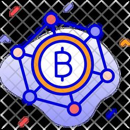 Bitcoin club Colored Outline Icon