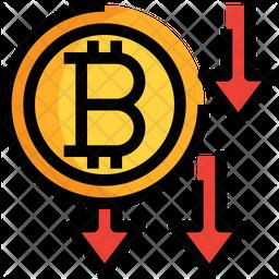 Bitcoin Decrease Icon