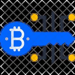 Bitcoin Digital Key Icon