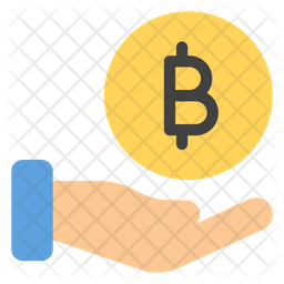 Bitcoin Donation Flat  Emoji Icon