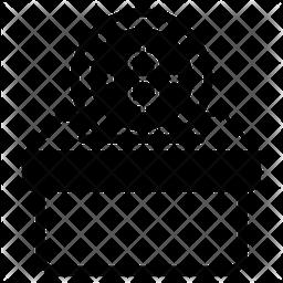 Bitcoin Donation Glyph Icon