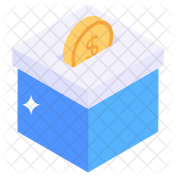 Bitcoin Donation Isometric Icon