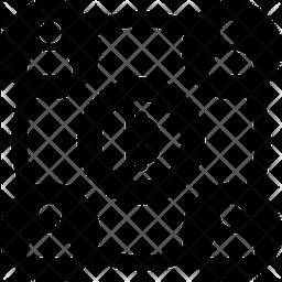 Bitcoin Double Spending Glyph Icon