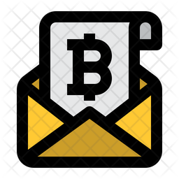 Bitcoin Email Icon