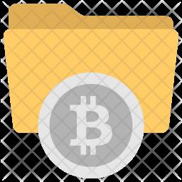 Bitcoin Folder Flat Icon