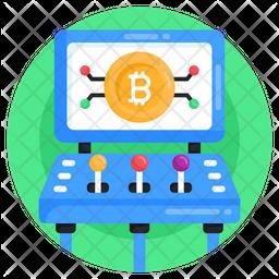 Bitcoin Gaming Icon