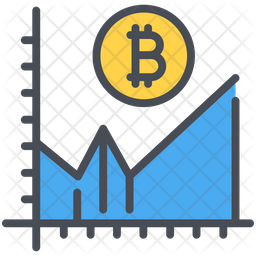 Bitcoin Going Up Icon