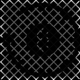 Bitcoin History Glyph Icon