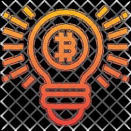 Bitcoin Idea Line Icon
