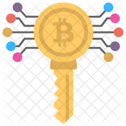 Bitcoin Key Icon Of Flat Style Available In Svg Png Eps Ai Icon Fonts