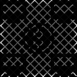 Bitcoin Live Transaction Glyph Icon