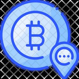 Bitcoin Location Icon