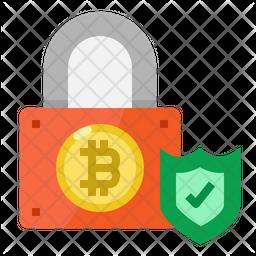 Bitcoin Lock Icon